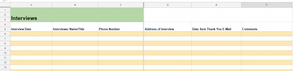 This Spreadsheet Can Help You With Your Job Search Steam Boston Career Advice And Stories For Students Professionals