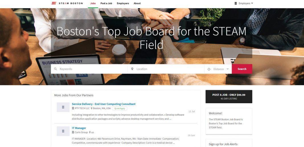 steam boston job board