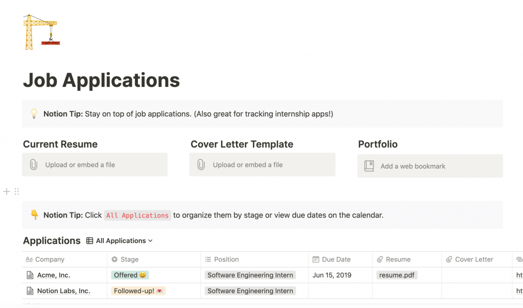 Notion Job Search